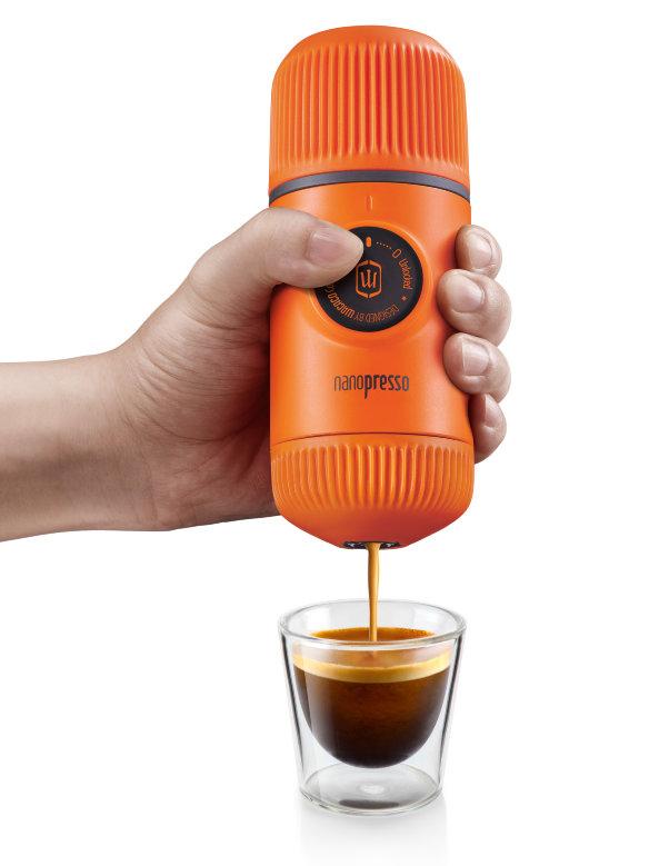 Ручная мини-кофемашина Wacaco Nanopresso Orange Patrol