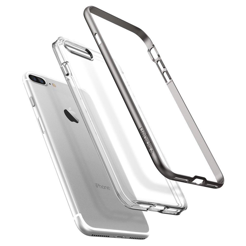 Чехол Spigen для iPhone 7 Plus Neo Hybrid Crystal Gunmetal 043CS20539