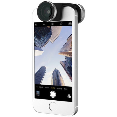 Объектив Olloclip 4-in-1 Lens Set для iPhone SE/5/5S Silver Lens / Black Clip