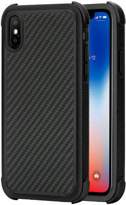Ультрапрочный чехол для iPhone X Pitaka MagCase Pro Black/Grey Twill