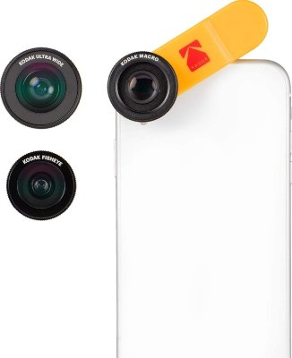 Набор объективов для смартфона KODAK Smartphone 3-in-1 Lens Set (Ultra Wide + Macro+Fisheye) KPA001