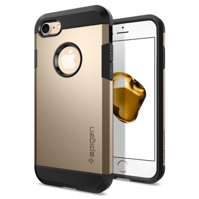 Чехол Spigen для iPhone 8/7 Tough Armor Champagne Gold 042CS20490