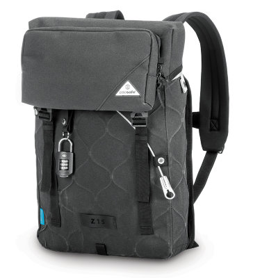 Рюкзак-антивор Pacsafe Ultimatesafe Z15 Anti-Theft Backpack Charcoal
