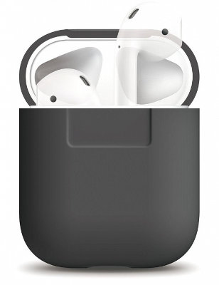 Чехол для AirPods Elago Silicone Case Dark Grey