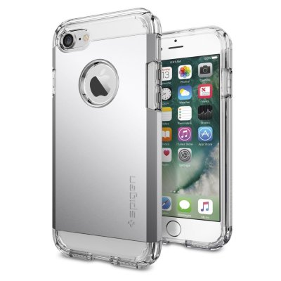 Чехол Spigen для iPhone 8/7 Tough Armor Satin Silver 042CS20672