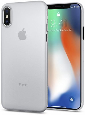 Чехол Spigen Air Skin Soft Clear для iPhone X/XS (057CS22115)