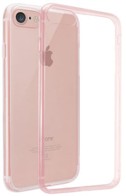 Чехол Ozaki O!coat Crystal+ Clear Pink для iPhone 8/7