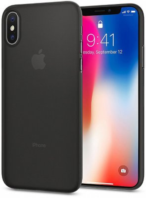 Чехол Spigen Air Skin для iPhone X Black (057CS22114)