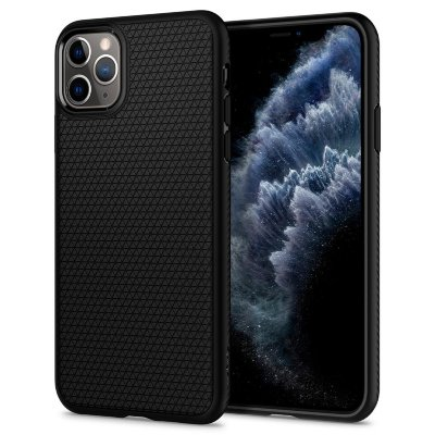 Чехол Spigen для iPhone 11 Pro Max Liquid Air Black 075CS27134