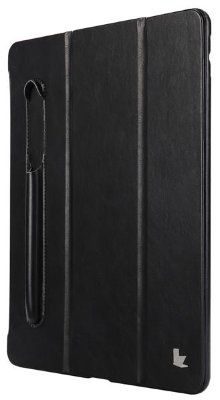 Чехол Jisoncase Mirco Fiber Leather Case с отсеком для Apple Pencil для iPad 9.7 (2017/18) Black