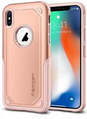 Чехол Spigen Hybrid Armor для iPhone X  Blush Gold (057CS22351)