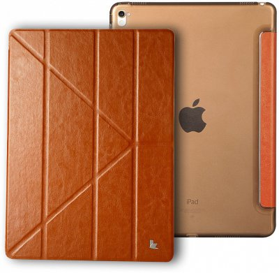 Чехол Jisoncase PU Leather Brown для iPad Pro 12.9