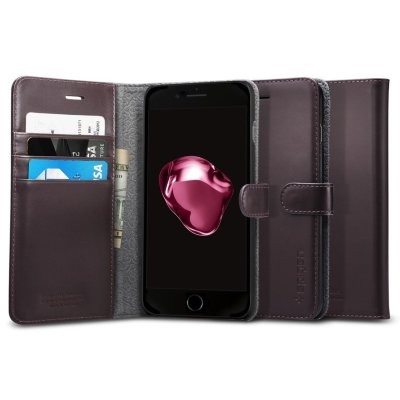 Чехол-портмоне Spigen для iPhone 8/7 Plus Valentinus Dark Brown 043CS20985