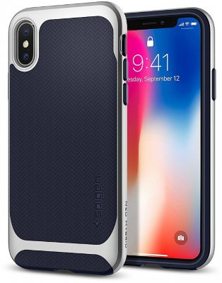 Чехол Spigen Neo Hybrid Satin Silver для iPhone X  (057CS22167)