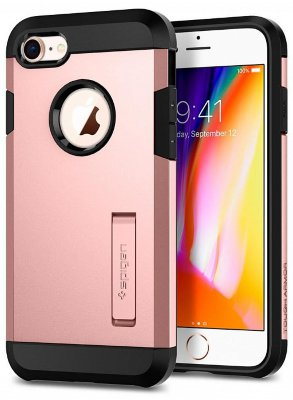 Чехол Spigen Tough Armor 2 Rose Gold для iPhone 8/7 (054CS22215)