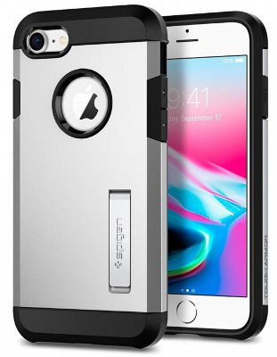 Чехол Spigen  Tough Armor 2 Satin Silver для iPhone 8/7 (054CS22217)