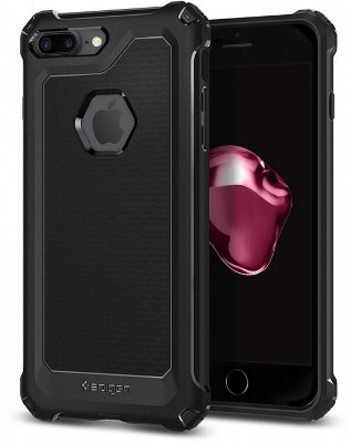 Чехол Spigen Rugged Armor Black для iPhone 8/7Plus (055CS21963)