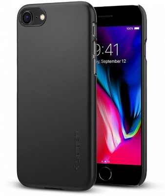 Чехол  Spigen Thin Fit Black для iPhone 8/7 (054CS22208)