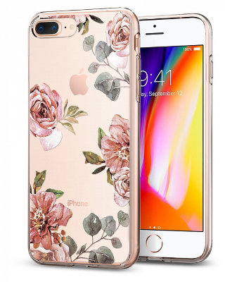 Чехол Spigen для iPhone 8/7 Plus Case Liquid Crystal Rose Aquarelle 055CS22621