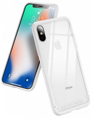 Чехол Baseus See-through Glass для iPhone Xs Max White