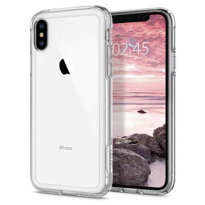 Чехол Spigen для iPhone XS/X Crystal Hybrid Clear 063CS25140