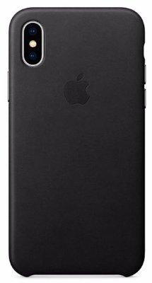 Чехол Apple Leather Case Black для iPhone X MQTD2ZM/A