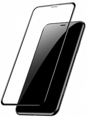 Защитное 3D-стекло Baseus Arc-Surface Tempered Glass Film 0.2mm Black для iPhone XS Max