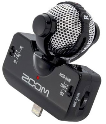 Микрофон Zoom IQ5B для iPhone / iPod / iPad / iPad mini (разъем Lightning)