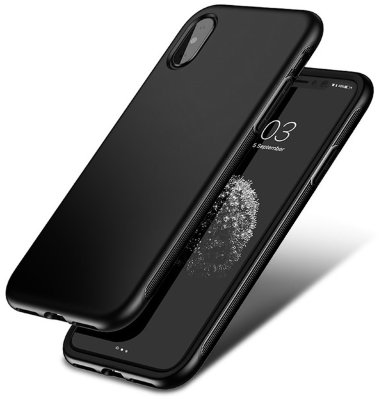Чехол-накладка Baseus Bumper Case Black для iPhone X/XS