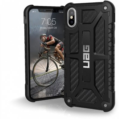 Противоударный чехол Urban Armor Gear Monarch Carbon Fiber для iPhone X/XS