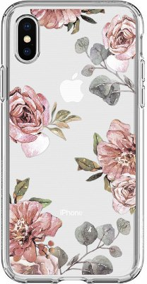 Чехол Spigen Liquid Crystal Aquarelle Rose для iPhone X (057CS22623)