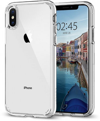 Чехол Spigen для iPhone XS/X Ultra Hybrid Crystal Clear 063CS25115