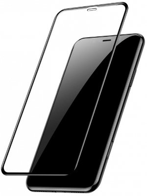 Защитное 3D-стекло Baseus Full Coverage Curved Tempered Glass Protector Black для iPhone XR