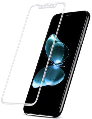 Защитное стекло Baseus 0.2mm Silk-Screen Tempered Glass Film White для IPhone X