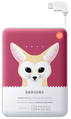 Внешний аккумулятор Samsung 8400 mAh EB-PG850B Animal Battery Pack Fennec Fox