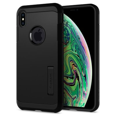 Чехол Spigen для iPhone XS Max Tough Armor Black 065CS25130