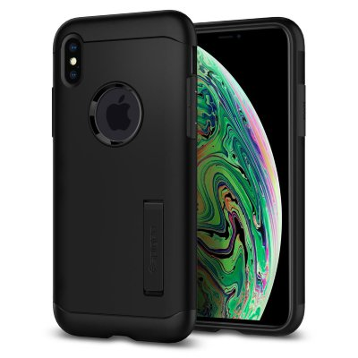 Чехол Spigen для iPhone XS Max Slim Armor Black 065CS25156