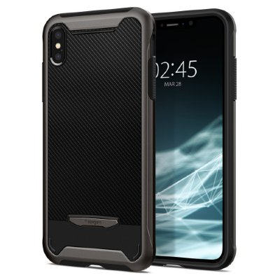 Чехол Spigen  для iPhone XS Max Hybrid NX Gunmetal 065CS24863