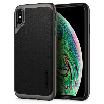 Чехол Spigen для iPhone XS Max Neo Hybrid Gunmetal 065CS24838
