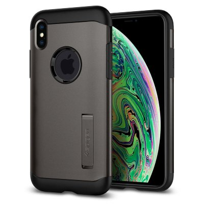 Чехол Spigen для iPhone XS Max Slim Armor Gunmetal 065CS25153