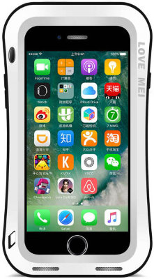 Противоударный чехол Love Mei Powerful Small Waist upgrade version White для iPhone 8/7