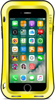 Противоударный чехол Love Mei Powerful Small Waist upgrade version Yellow для iPhone 8/7