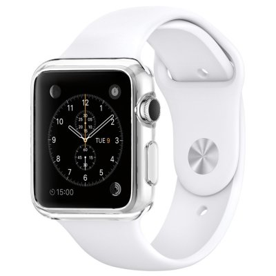 Клип-кейс Spigen для Apple Watch (38mm) Liquid, кристально-прозрачный (SGP11484)