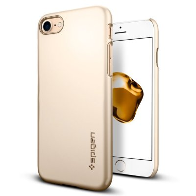 Клип-кейс Spigen для iPhone 8/7 Thin Fit Champagne Gold 042CS20732