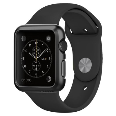 Клип-кейс Spigen для Apple Watch (38mm) Thin Fit, черный (SGP11487)