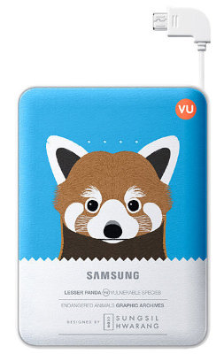 Внешний аккумулятор Samsung 8400 mAh EB-PG850B Animal Battery Pack Lesser Panda