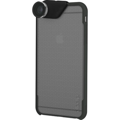Объектив Olloclip 4-in-1 Lens Set для iPhone 6/6S / 6/6S PLUS Silver Lens / Black Clip + чехол Ollocase для iPhone 6/6S