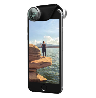 Объектив Olloclip 4-in-1 Lens Set для iPhone 6/6S / 6/6S PLUS Silver Lens / Black Clip