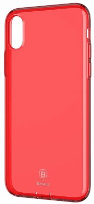 Чехол Baseus Simple Series CasePluggy Transparent Red для iPhone X/XS
