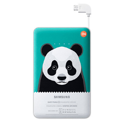 Внешний аккумулятор Samsung 11300 mAh EB-PN915 Animal Battery Pack Green Panda